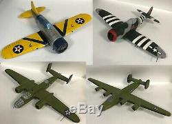 4 Desk Top Display Model Military Aircraft Airplanes for Repair