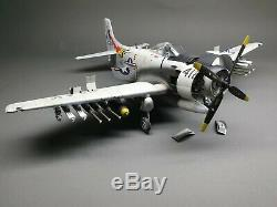 A-1H AD-6 Skyraider WWII Fighter Plane Desktop Model High Quality 1/32