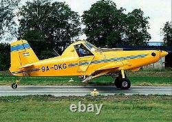 Air Tractor AT-402 Agricultural Aircraft Airplane Desktop Wood Model Large New