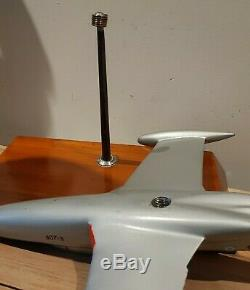 Aircraft aluminiun MS760 desktop model military hunting school vintage airplane