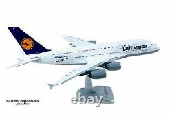 Airplane Commercial LUFTHANSA Airbus A380 Desktop 14.37 Model Aircraft