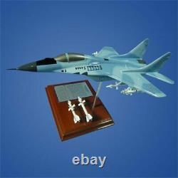 Airplane Russian Mig-29 Fulcrum Jet Fighter 12.6 Wood Desktop Model Aircraft