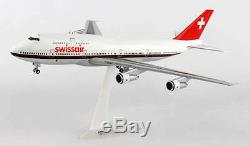 Airplane Swiss Airlines Boing 747-300M Desktop Model Aircraft