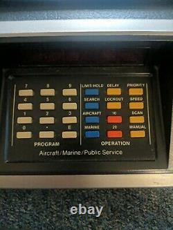 Bearcat 220 Marine/Aircraft/Public Service Scanner Model 220 with manual 2 ext