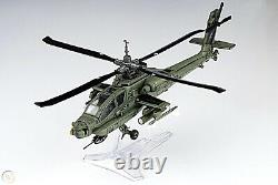 Boeing AH-64 Apache Helicopter Metal Desk Top Model 18 Attack Aircraft Decor