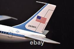 Boeing Air Force One Plane Aircraft Wood model Desk top stand 18 airplane