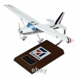 Cessna 150 152 Desk Top Display Private Wood Aircraft 1/24 Model ES Airplane New