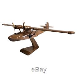 Consolidated PBY Catalina WW2 American Military Aircraft Wooden Desktop Model