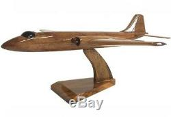 English Electric Canberra RAF Military Aircraft Wooden Desk Top Model