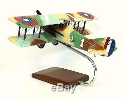 French Spad XIII Desk Top Display 1/24 WWI Fighter Aircraft ES Model Airplane