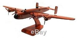 Handley Page Halifax British Bomber Aircraft / Military Wooden Desktop Model