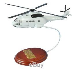 Helicopter French Air Force SA 330 Puma 12 Desktop Wood Model Aircraft