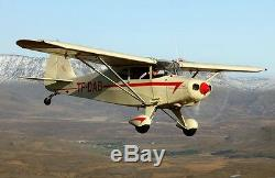 Piper PA-16 Clipper Short Wing Civil Utility Aircraft Desktop Wood Model Large