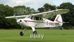 Piper PA-20 Pacer High Wing Civil Utility Aircraft Desktop Kiln Wood Model Large