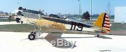 Ryan PT-22 Recruit Military Trainer Aircraft Desktop Wood Model Big New