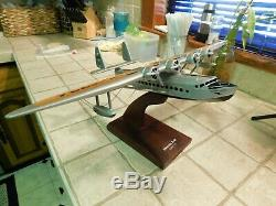 Sikorsky S-42 1/72 scale Wood Desk Top Airplane Seaplane Aircraft 4-Prop Model