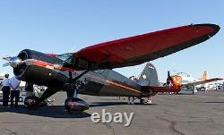 Stinson Reliant Liaison and Trainer Monoplane Aircraft Desktop Wood Model Small