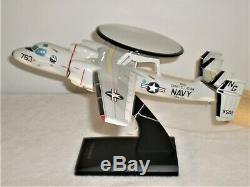 T&M Corp 2005 Desk Top USAF E-2C Hawkeye Model Aircraft Display 1/48 Revell