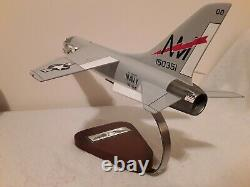 Vought F-8 Crusader Wooden Desktop Model with VF-194 Squadron Markings